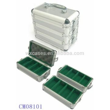300 cas de jeton de poker en aluminium peut être divisé en 3 parties