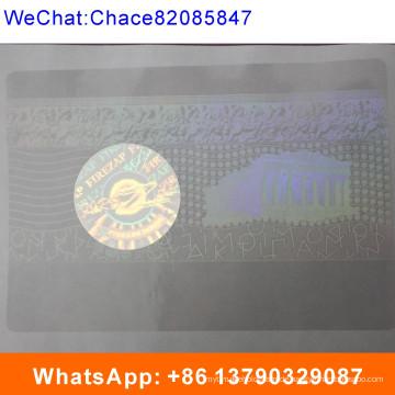 3D-Laser-Anti-Fake-transparente ID-Karte Overlay Hologramm