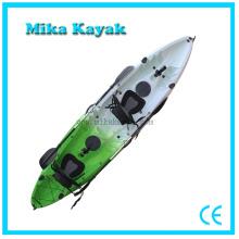 Canoa de plástico de 3 personas sentarse en la venta de barco de pesca de kayak superior