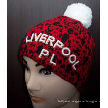 Customized Winter Knitted Beanie Hat with Spandex (1-2256/57/58)