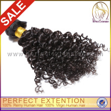 No Shedding Natural Black Malaysian Best Kinky Curly Weave Hair