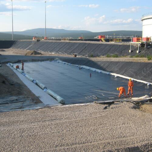 HDPE Double Side Geomembrane Bertekstur