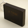 Black custom logo corrugated shipping box