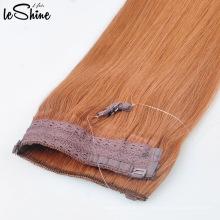 Venta caliente de calidad superior doble dibujado Halo Hair Extension cabello rubio