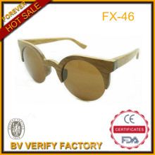 Eco Friendly 100% Handmade Bamboo Sun Eyewar with Half Rim Frame