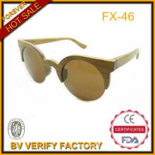Eco Friendly 100% bambu artesanal Sun Eyewar com meia borda Frame