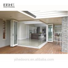 Современные алюминиевые двойные стеклянные двери цена
