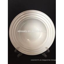 Venta al por mayor todas las placas blancas de cerámica del hotel del tamaño