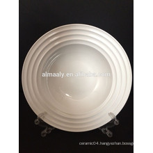wholesale all size ceramic white hotel plates