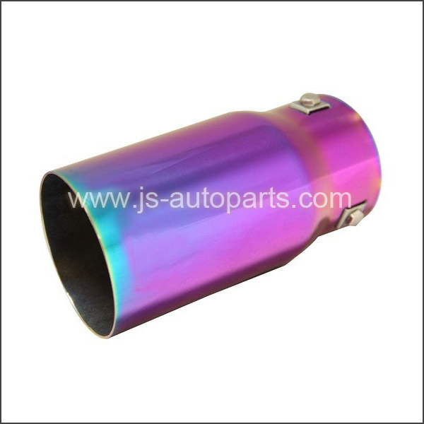 INLET2.875 OUTLET3.5 SLANT CUT W NO RESONATED  CHAMELEON ANODIZED EXHAUST TIP