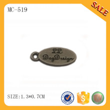 MC519 Oval design engraved custom logo jewelry tags