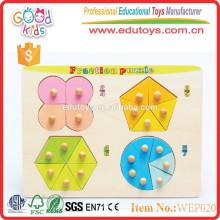 Juguetes más populares del rompecabezas del bebé de la fracción de aprendizaje temprana del bebé