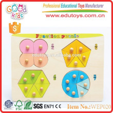 most popular early learning fraction wooden baby puzzle toys