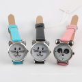 kids watch stainless steel back black color band cartoon watch