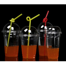 PLA/Pet Plastic Biodegradable Takeaway Coffee Cups Containers for Cold Beverage