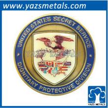 pièce de monnaie américaine personnalisée, US personnalisé avec émail et plaque