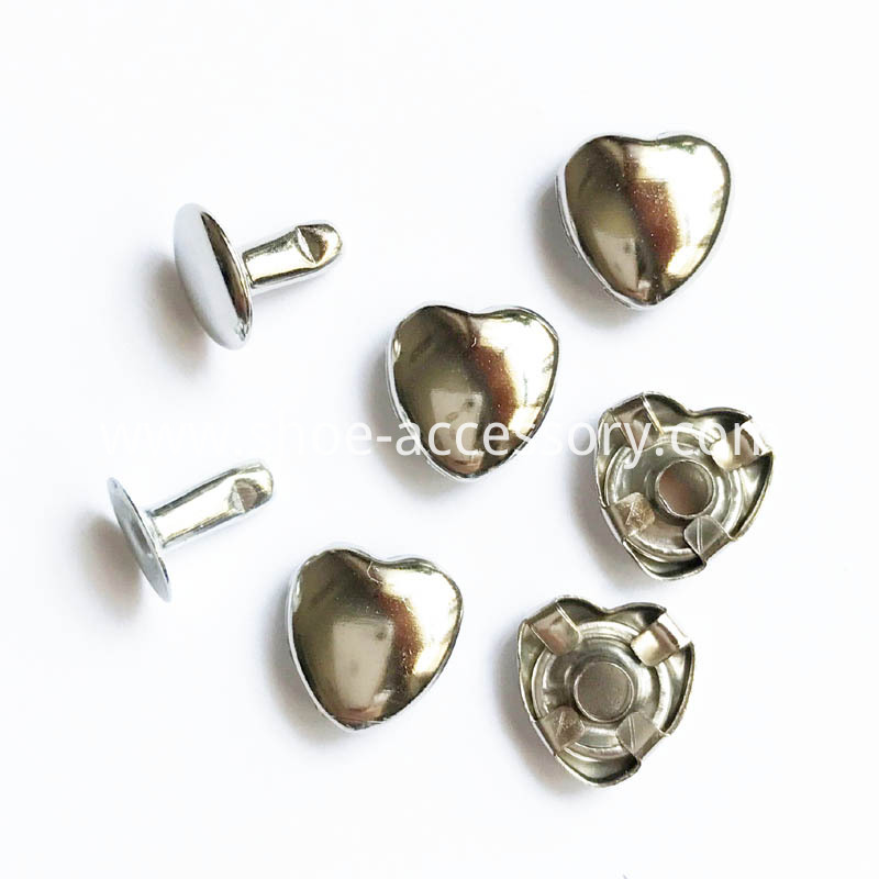 15mm Heart Rivets