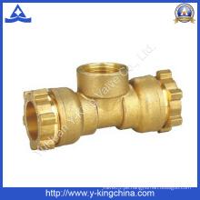 Messing-T-Stück Kupplungsrohr-Befestigung mit Kompressionsenden (YD-6053)