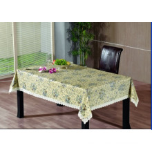 PVC Embossing Tablecloth with Flannel Backing (TJG0005)