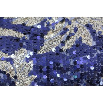 Fancy embroidery sequins tulle fabric
