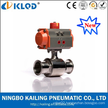 New Product Stainless Steel Food Grade Pneumatic Sanitary Ball Valve
