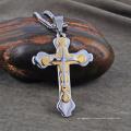 Цепь новая конструкция из нержавеющей стали Мужской крест Кулон ожерелье новый дизайн из нержавеющей стали Мужской крест Кулон ожерелье цепь