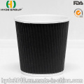 Taza de café de papel rizado de 4 oz (4oz)