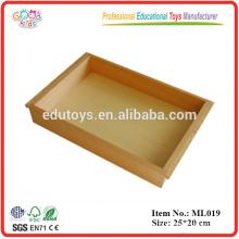 Educativo Montessori Materiales del Idioma Juguetes de madera promocionales Bandeja pequeña