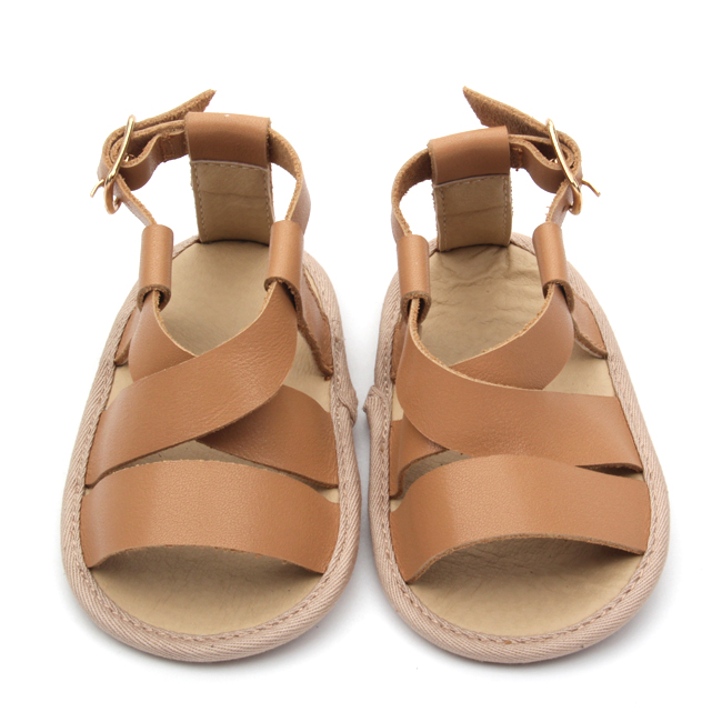 Brown Baby Goat Leather Soft Crib Shoes