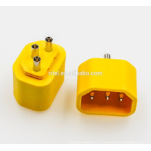 inserir IEC 60320 C14 amarelo branco preto rohs