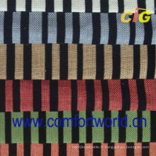 Tissu de meuble avec estampage imprimé ou flocké