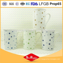 10OZ. New Bone China Mug with Lines & Dots for BS131203E