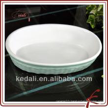 color glaze ceramic griddle plate