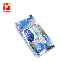 Sac de gousset latéral imprimé personnalisé pour les tissus humides
