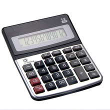 12 Digit Office Desk Calculator with Alum Coating