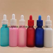Bouteilles de verre à huile essentielle de 5 ml à 100 ml avec différentes couleurs