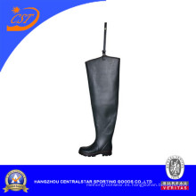 Moda caucho negro Hip Wader (6695A)
