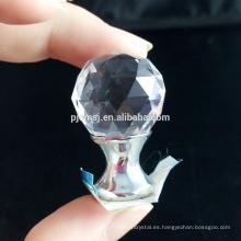 Perillas de puerta de cristal del diamante de diversos colores de alta calidad