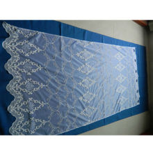 Nice organza with embroidery, fabric width 280cm, embroidery height 260cm, for making curtain