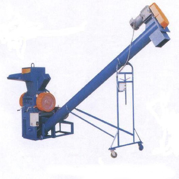crushed plastic particle flexible spiral screw conveyor