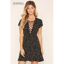 Wyldr Lace-up Mini Dress