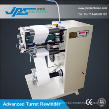High Speed ATM Paper Slitter with Turret Rewiner