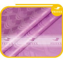 Полиэстер розовый цвет жаккардовые окрашенные дамасской FEITEX Африканский ткань ткань базен riche 10 ярдов/мешок