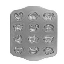 12 Cup Animals Muffin Cake Pan Chocolate Mold