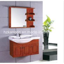 Cabinet de salle de bain en bois massif / vanité de salle de bain en bois massif (KD-421)