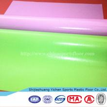 Indoor Wasserdichte UV-Beschichtung Bright PVC Bodenbeläge Roll