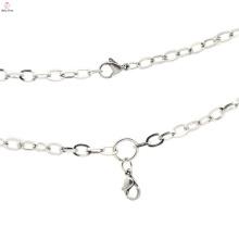 Nouveau design plaqué argent chaînes de bijoux, collier en argent oxydé populaire