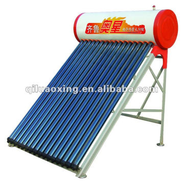 intergrate vacuum tube pressurized solar heater water