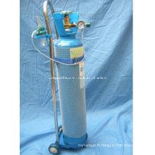 Cylindre d'oxygène en aluminium à alliage d'aluminium 10litres
