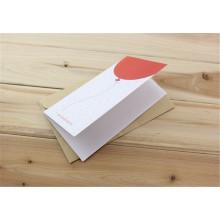 Tarjeta de felicitación personalizada con impresión de tarjetas de invitación de papel sobre